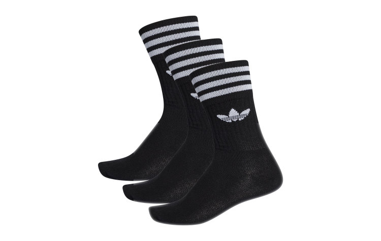 ADIDAS Solid Crew Socks 3*pack (S21490)