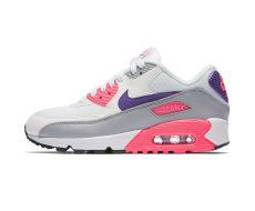 Nike Wmns Air Max 90, WhiteCourt Purple Wolf Grey Laser