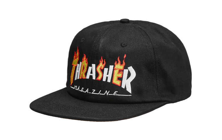 THRASHER Flame Mag Cap (565745-BLK)