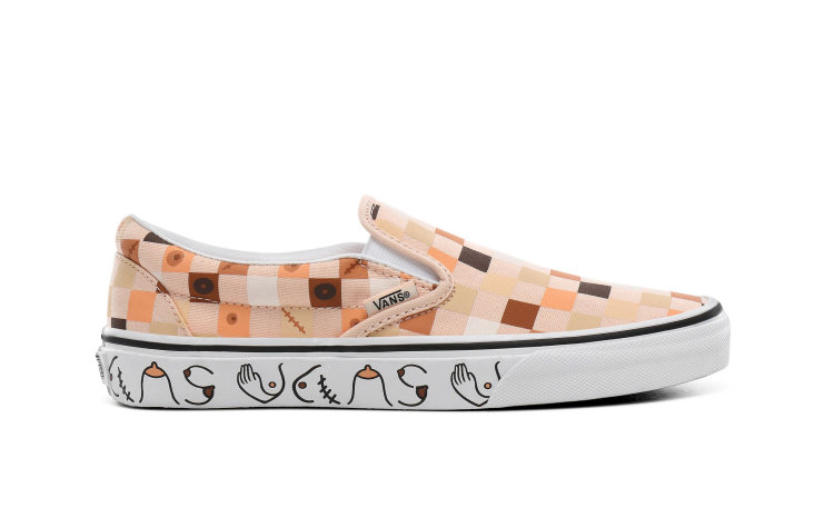 VANS Wmns Classic Slip-on (breast Cancer) (VN0A4BV3TB3)