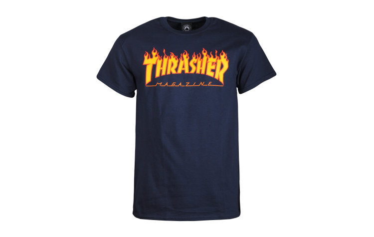 THRASHER Flame S/S (36093-NVY)