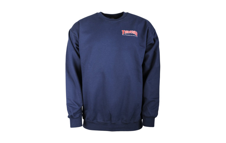 THRASHER Outlined Embroidered Crew (422659-NVY)