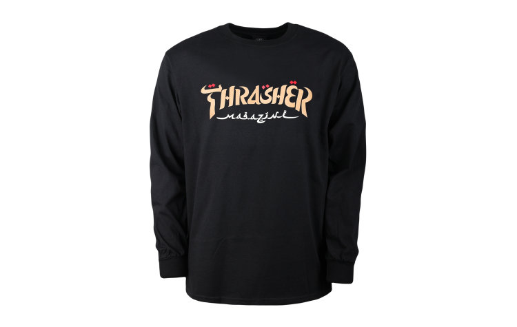 THRASHER Calligraphy Crew (422806-BLK)
