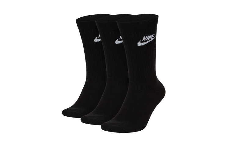 NIKE Everyday Essential Crew Socks (3 Pairs) (SK0109-010)