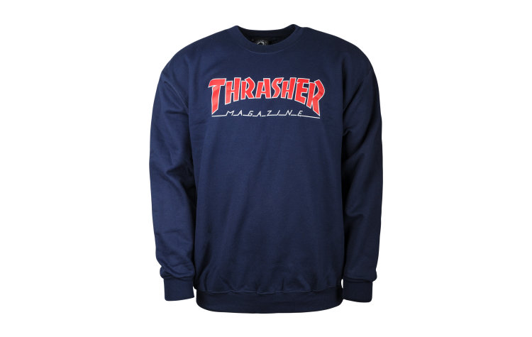 THRASHER Outlined Crew (422330-NVY)