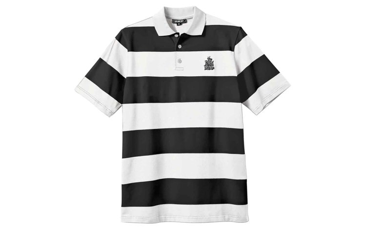 NEW DEAL Striped Polo (20672001-BLK)