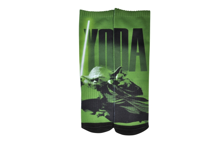 STAR WARS Youth Print Crew Yoda Sox (Y0030A)