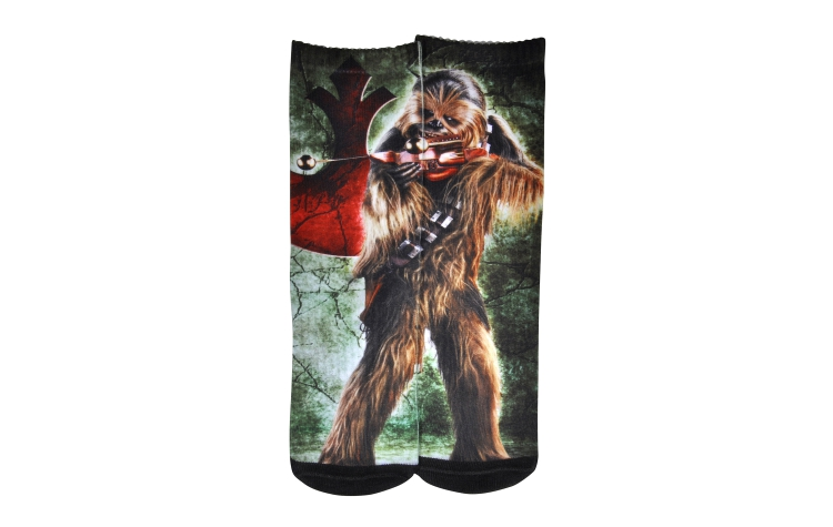 STAR WARS Youth Print Crew Chewbacca Sox (Y0031A)