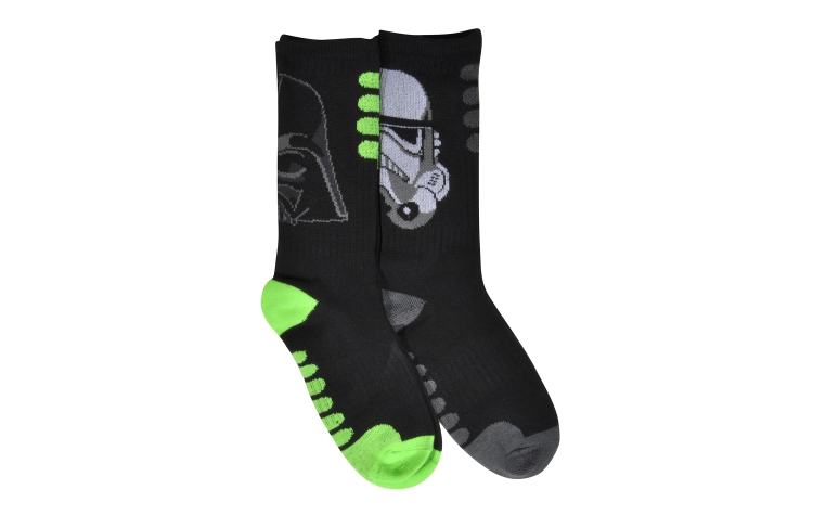 STAR WARS Youth Jacquard Crew VADER/TROOPER Sox 2*pack (Y0019D)